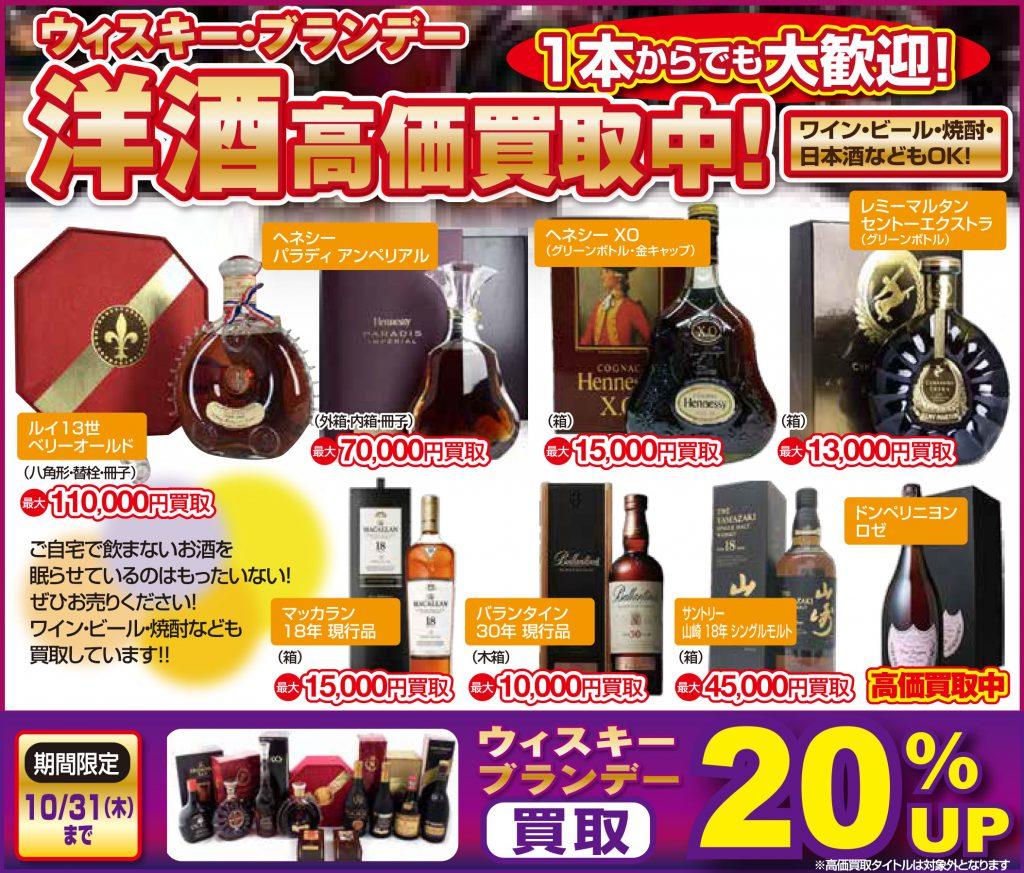 洋酒買取20%アップキャンペーン